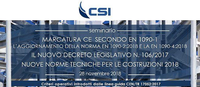 Evento CSI a Bollate - Milano - Marcatura CE SMART